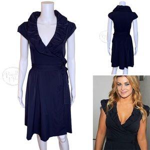 Diane Von Furstenberg Navy Bethania Wrap Dress